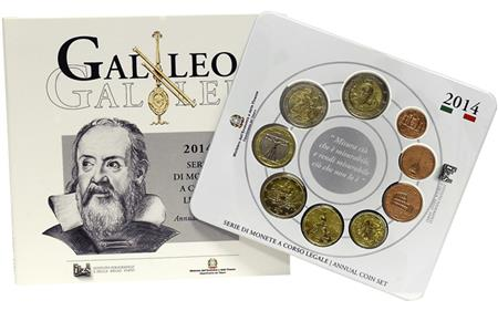 Obverse of Italy Official Blister - Galileo Galilei 2014