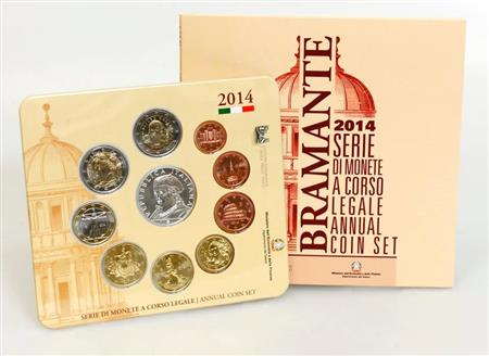 Obverse of Italy Official Blister - Donato Bramante 2014