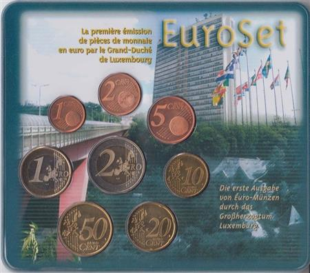 Obverse of Luxembourg Official Blister 2002