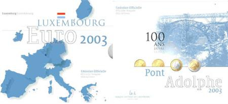 Obverse of Luxembourg Official Blister 2003
