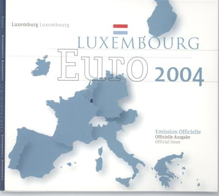 Obverse of Luxembourg Official Blister 2004