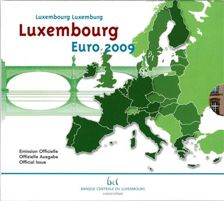 Obverse of Luxembourg Official Blister 2009