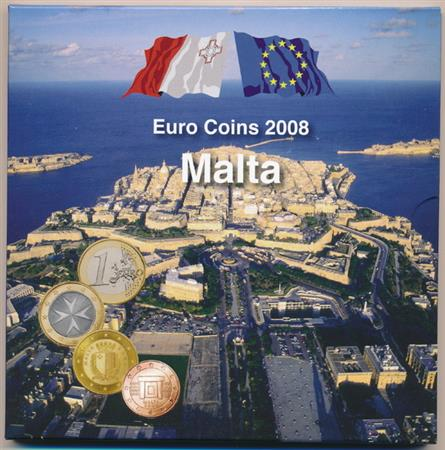 Obverse of Malta Official Blister - Post Office 2008