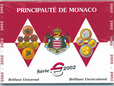 Obverse of Monaco Official Blister 2002