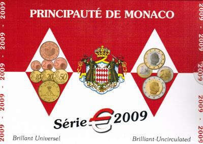 Obverse of Monaco Official Blister 2009