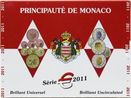 Obverse of Monaco Official Blister 2011
