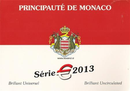 Obverse of Monaco Official Blister 2013