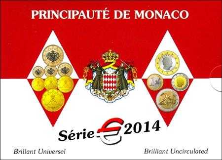 Obverse of Monaco Official Blister 2014