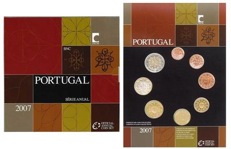 Obverse of Portugal Official Blister 2007