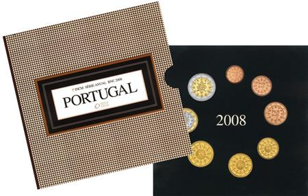 Obverse of Portugal Official Blister 2008
