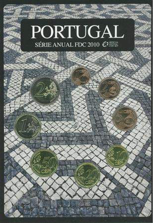 Obverse of Portugal Official FDC set 2010