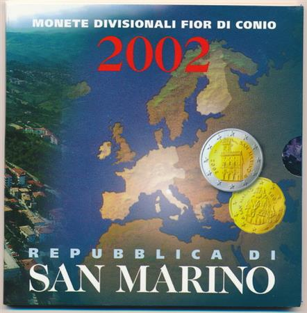 Obverse of San Marino Official Blister 2002