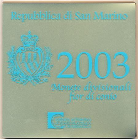 Obverse of San Marino Official Blister 2003