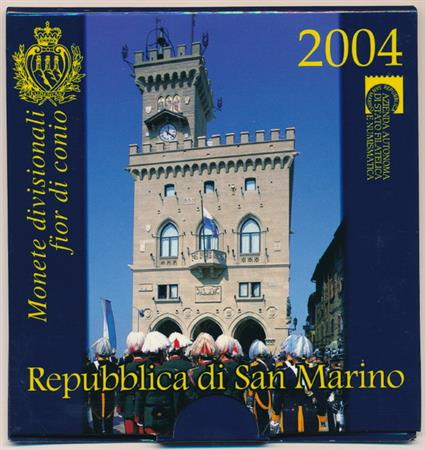 Obverse of San Marino Official Blister 2004