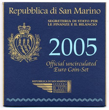 Obverse of San Marino Official Blister 2005