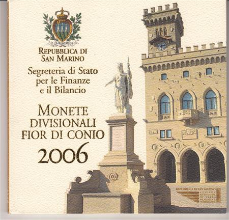 Obverse of San Marino Official Blister 2006