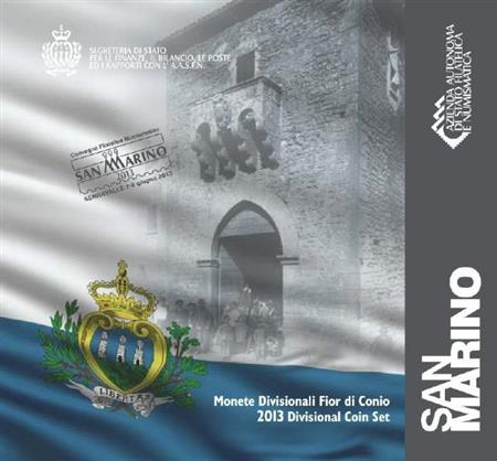 Obverse of San Marino Official Blister 2013