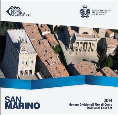 Obverse of San Marino Official Blister 2014