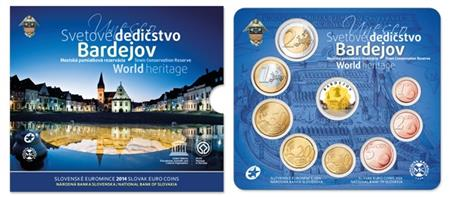 Obverse of Slovakia Official Blister - Bardejov 2014
