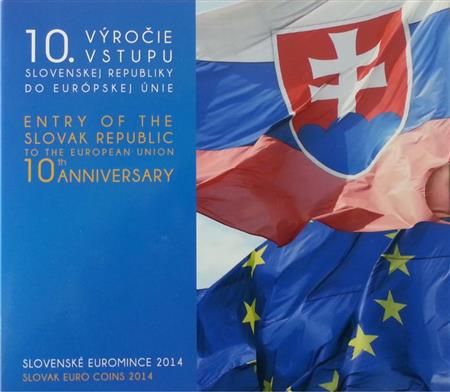 Obverse of Slovakia Official Blister - Entry to the EU 2014