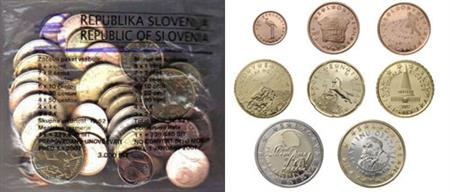 Obverse of Slovenia Starter Kit 2007