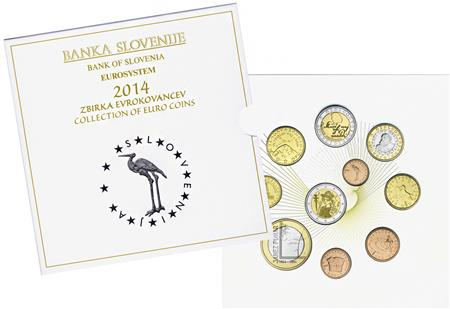 Obverse of Slovenia Official Blister 2014