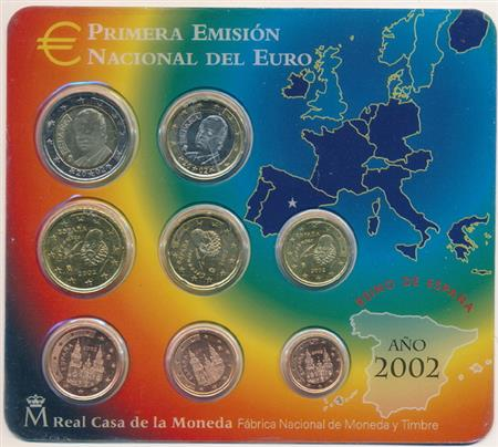 Obverse of Spain Official Blister 2002
