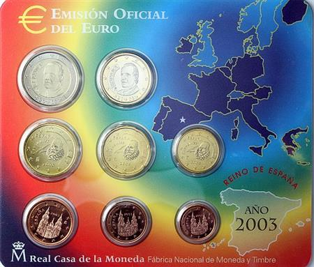 Obverse of Spain Official Blister 2003