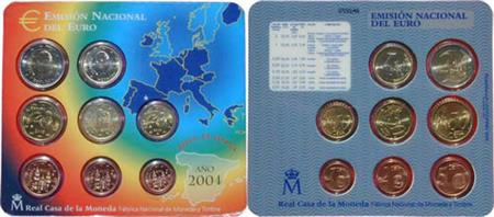 Obverse of Spain Official Blister 2004