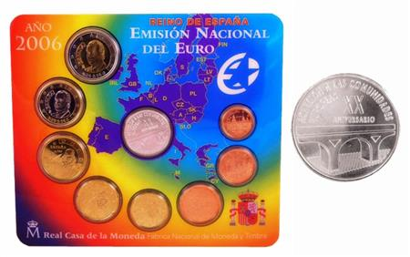 Obverse of Spain Official Blister 2006