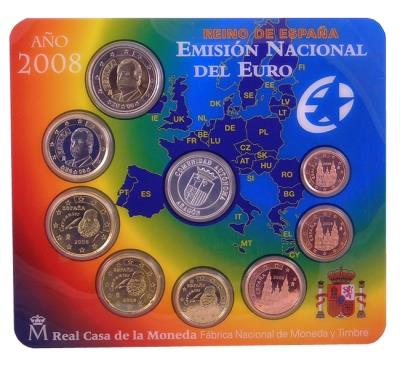 Obverse of Spain Official Blister 2008