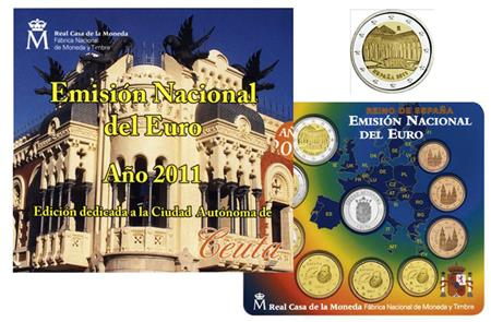 Obverse of Spain Official Blister - Ceuta 2011