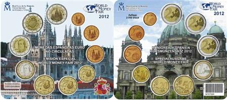 Obverse of Spain Official Blister - World Money Fair 2012