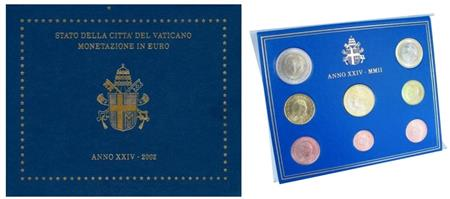 Obverse of Vatican Official Blister 2002