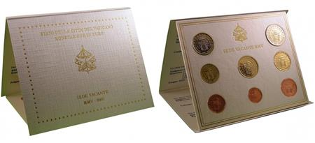 Obverse of Vatican Official Blister - Sede Vacante 2005
