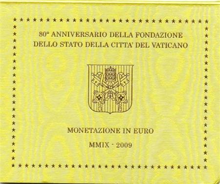 Obverse of Vatican Official Blister 2009