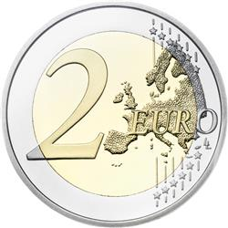 Reverse of Greece 2 euros 2014 - Union of the Ionian Islands with Greece