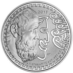 Reverse of Greece 10 euros 2015 - Aristophanes