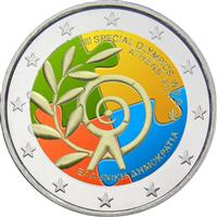 Image of Greece 2 euros colored euro