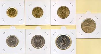 Obverse of Greece Complete Year Set 1986