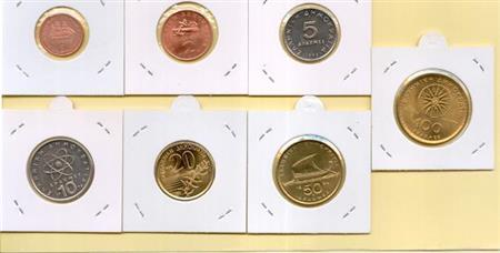 Obverse of Greece Complete Year Set 1998
