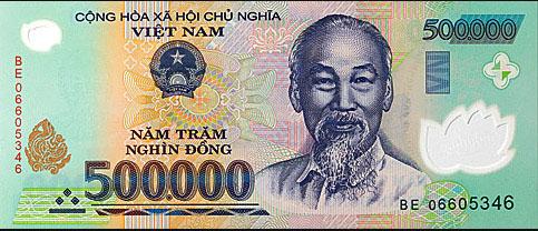 Vietnamese 500 000 Dong Banknote