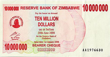 10 000 Zimbabwe Dollar Banknote