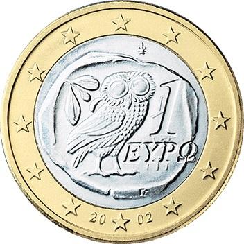 greece 1 euro 2002 eur189. Black Bedroom Furniture Sets. Home Design Ideas