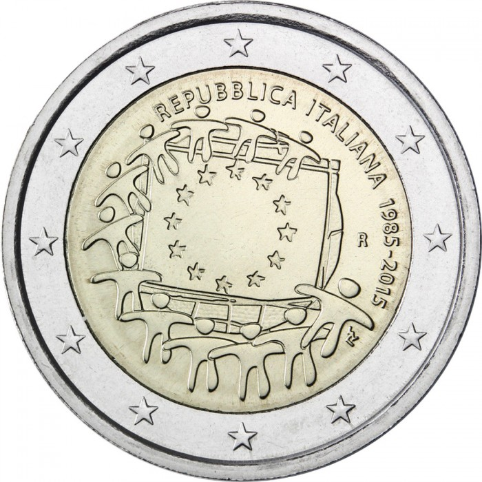 "Slovenia 2 euro coin 2015 /""30th anniversary of the EU flag/"" UNC"