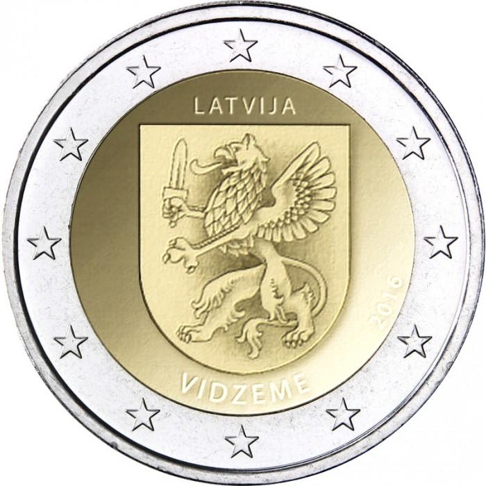 Latvia 2 euro coin 2017 Kurzeme