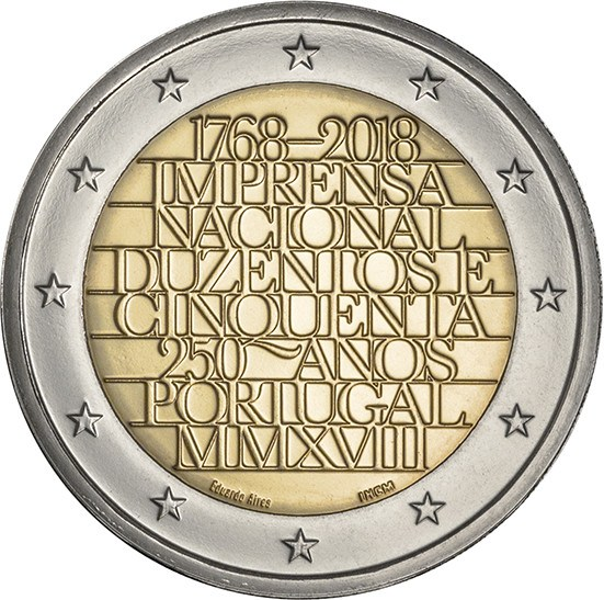 Portugal 2 euro 2018 imprensa nacional casa da moeda - Coin casa shop on line ...