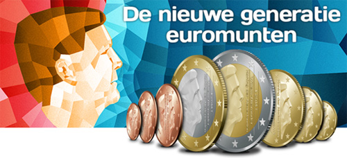 Netherlands introduced a new design for the euro coins in 2013