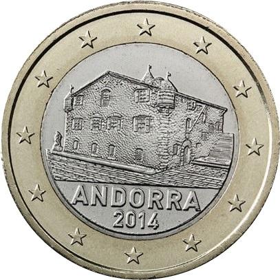 andorra 1 euro 2014 eur21170. Black Bedroom Furniture Sets. Home Design Ideas