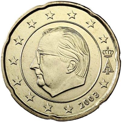 Belgium 20 Cent 2000 Eur1884